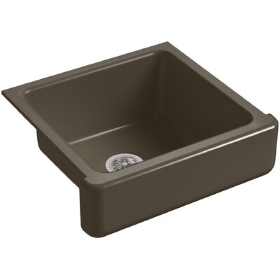 """Whitehaven Self-Trimming 23-1/2"""" L x 21-9/16"""" W x 9-5/8"""" Under-Mount Single-Bowl Sink with Short Apron Finish: Suede"""