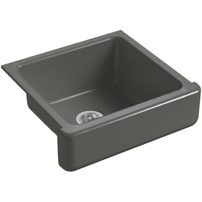 """Whitehaven Self-Trimming 23-1/2"""" L x 21-9/16"""" W x 9-5/8"""" Under-Mount Single-Bowl Sink with Short Apron Finish: Thunder Grey"""