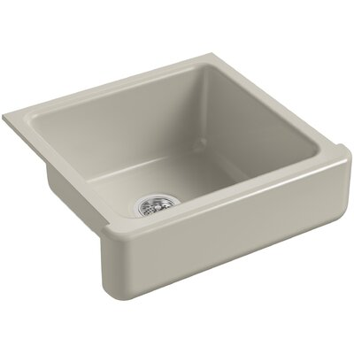 "Whitehaven Self-Trimming 23-1/2"" L x 21-9/16"" W x 9-5/8"" Under-Mount Single-Bowl Sink with Short Apron Finish: Sandbar"