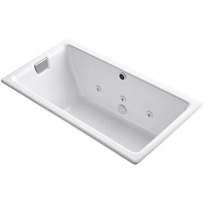 "Tea-For-Two 66"" x 36"" Whirlpool Bathtub Finish: White"