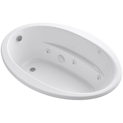 "Sunward 60"" x 42"" Whirlpool Bathtub Finish: White"