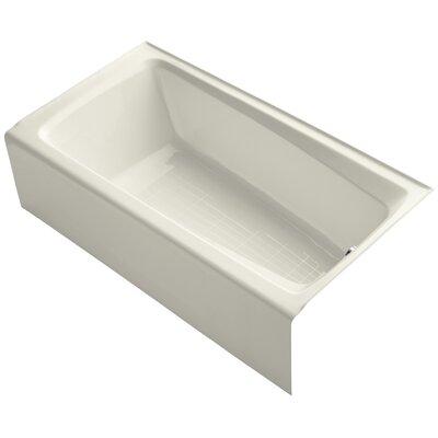 "Mendota 60"" x 32"" Soaking Bathtub Finish: Biscuit"