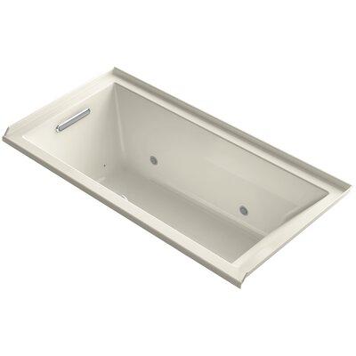 "Underscore 60"" x 30"" Air Bathtub Finish: Almond, Drain Location: Left"