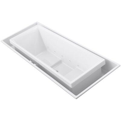 "Sok 104"" x 41"" Drop-In Effervescence Bath with Center Drain Finish: White"