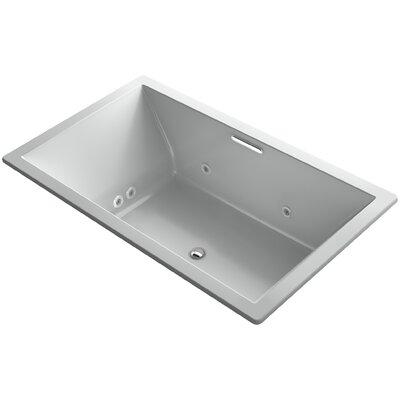 "Underscore 72"" x 42"" Air / Whirlpool Bathtub Finish: Ice Grey"