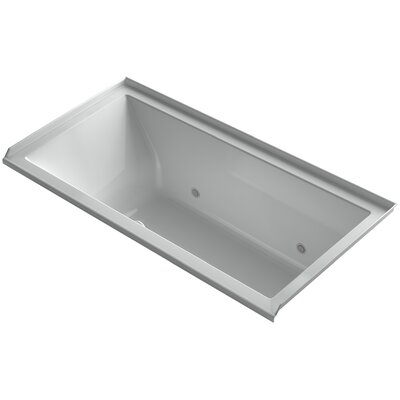 "Underscore 60"" x 30"" Air Bathtub Finish: Ice Grey, Drain Location: Right"