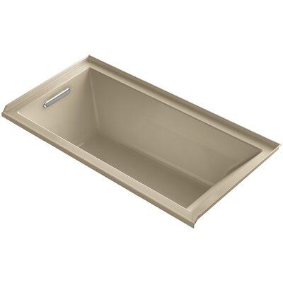 "Underscore 60"" x 30"" Soaking Bathtub Finish: Mexican Sand, Drain Location: Left"