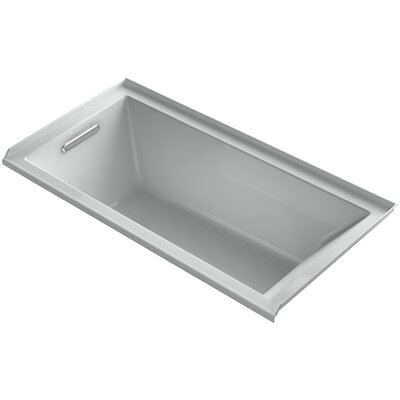 "Underscore 60"" x 30"" Soaking Bathtub Finish: Sandbar, Drain Location: Right"