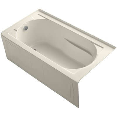 "Devonshire tub 60"" x 32"" Soaking Bathtub Finish: Almond"