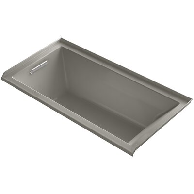 "Underscore 60"" x 30"" Soaking Bathtub Finish: Cashmere, Drain Location: Left"
