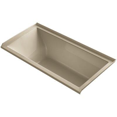 """Underscore 60"""" x 30"""" Soaking Bathtub Finish: Mexican Sand, Drain Location: Right"""