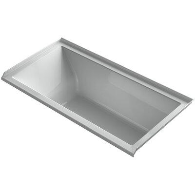 "Underscore 60"" x 30"" Soaking Bathtub Finish: Ice Grey, Drain Location: Right"