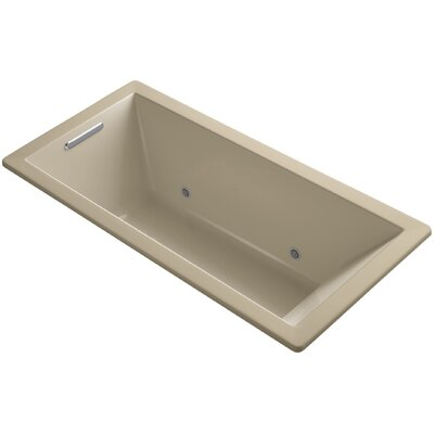 "Underscore 66"" x 32"" Soaking Bathtub Finish: Mexican Sand"