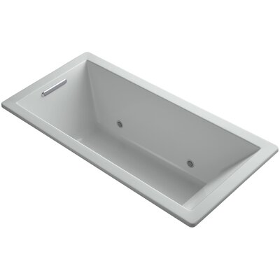 "Underscore 66"" x 32"" Soaking Bathtub Finish: Ice Grey"