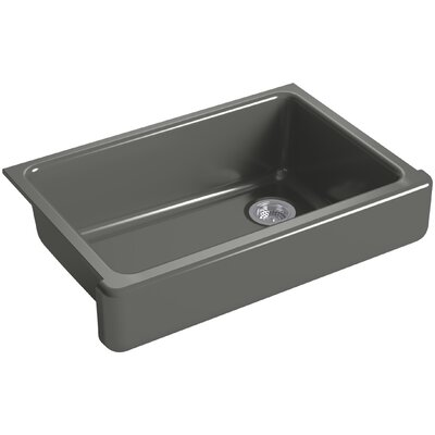 """Whitehaven Self-Trimming 32-1/2"""" L x 21-9/16"""" W x 9-5/8"""" Under-Mount Single-Bowl Sink with Short Apron Finish: Thunder Grey"""