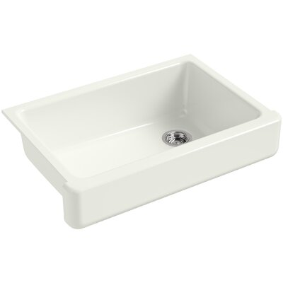 """Whitehaven Self-Trimming 32-1/2"""" L x 21-9/16"""" W x 9-5/8"""" Under-Mount Single-Bowl Sink with Short Apron Finish: Dune"""