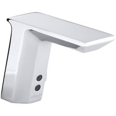 "Kohler Geometric Single-Hole Touchless Hybrid Energy Cell-Powered Commercial Bathroom Sink Faucet with Insight Technology and 6-3/4"" Spout"