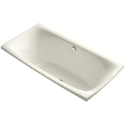"Escale 72"" x 36"" Drop In Soaking Bathtub Finish: White"