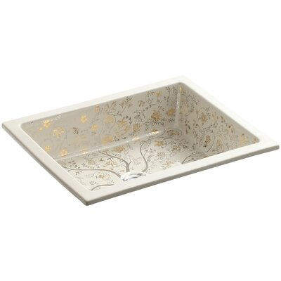 Mille Fleurs Ceramic Rectangular Undermount Bathroom Sink