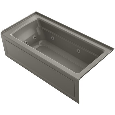 Archer Integral Apron Whirlpool Bath with Tile Flange and Right-Hand Drain Finish: Cashmere