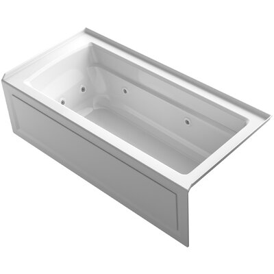 Archer Integral Apron Whirlpool Bath with Tile Flange and Right-Hand Drain Finish: White