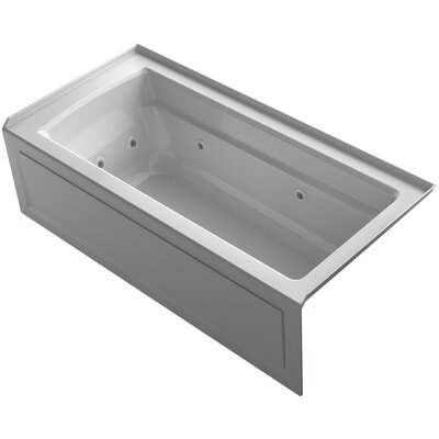 Archer Integral Apron Whirlpool Bath with Tile Flange and Right-Hand Drain Finish: Ice Grey