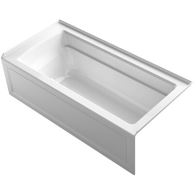 Archer BubbleMassage Air Bath with Integral Apron and Right-Hand Drain Finish: White