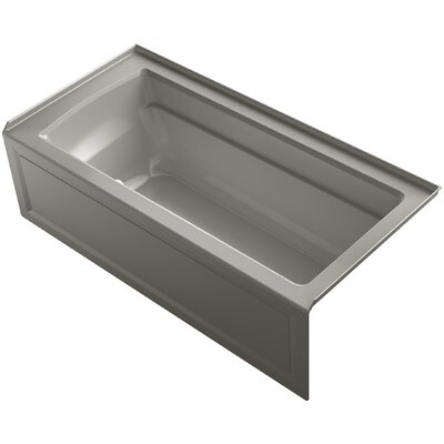 Archer BubbleMassage Air Bath with Integral Apron and Right-Hand Drain Finish: Cashmere
