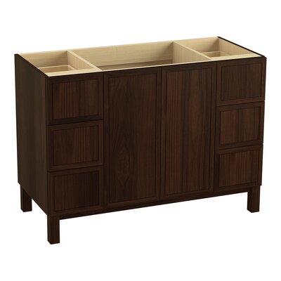 "Jacquard 48"" Vanity with Furniture Legs, 2 Doors and 6 Drawers Finish: Ramie Walnut"