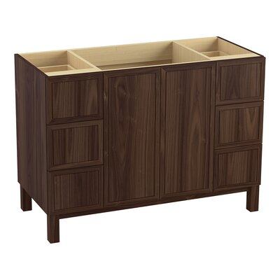 """Jacquard 48"""" Vanity with Furniture Legs, 2 Doors and 6 Drawers Finish: Terry Walnut"""