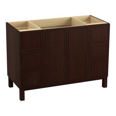 """Jacquard 48"""" Vanity with Furniture Legs, 2 Doors and 6 Drawers Finish: Cherry Tweed"""