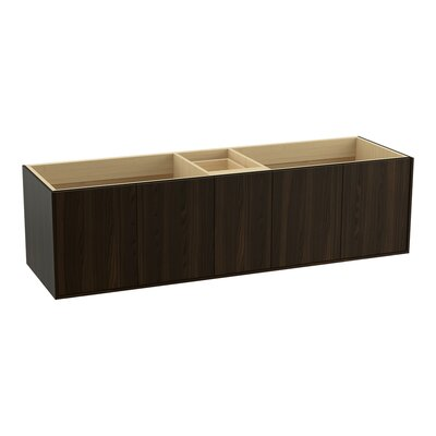 "Jute 72"" Vanity with 4 Doors and 1 Drawer Finish: Jersey Oak"