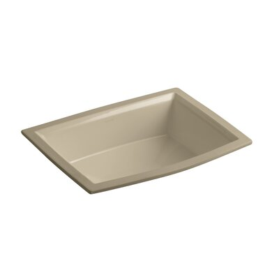 Archer Ceramic Rectangular Undermount Bathroom Sink with Overflow Sink Finish: Mexican Sand