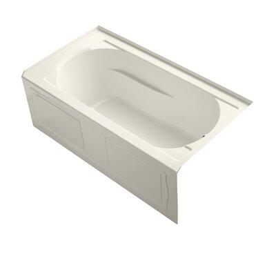 """Devonshire Alcove Bubblemassage 60"""" x 32"""" Soaking Bathtub Finish: Biscuit, Drain Location: Right"""