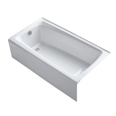 """Mendota 60"""" x 32"""" Soaking Bathtub Finish: White"""