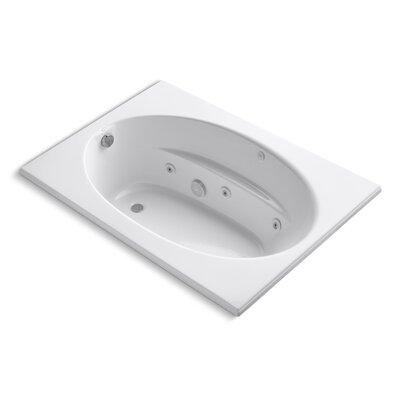 "Windward 60"" x 42"" Whirlpool Bathtub Finish: White"