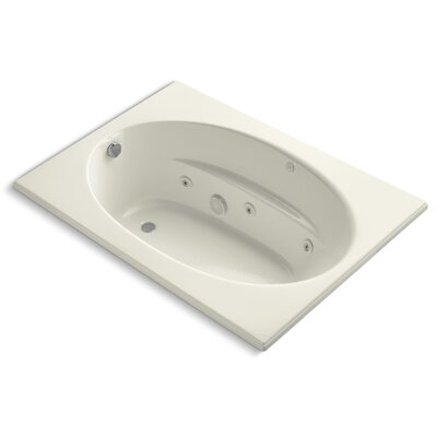 "Windward 60"" x 42"" Whirlpool Bathtub Finish: Biscuit"