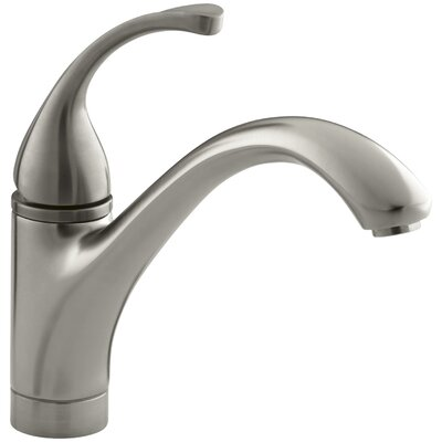 """Fort Single-Hole Kitchen Sink Faucet with 9-1/16"""" Spout Finish: Vibrant Brushed Nickel"""