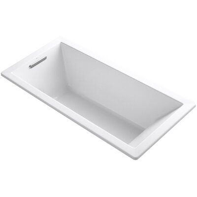 "Underscore 66"" x 32"" Soaking Bathtub Finish: White"