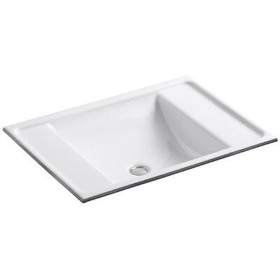 Alteo Metal Rectangular Undermount Bathroom Sink with Overflow Sink Finish: White