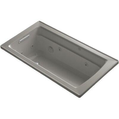 "Archer 60"" x 32"" Whirlpool Bathtub Finish: Cashmere"
