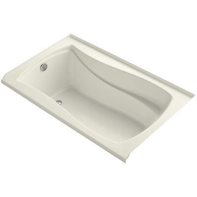 "Mariposa Alcove 60"" x 36"" Soaking Bathtub Finish: Biscuit"