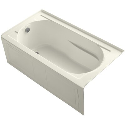 "Devonshire tub 60"" x 32"" Soaking Bathtub Finish: Biscuit"