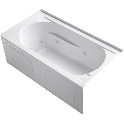 "Devonshire Alcove 60"" x 32"" Whirpool Bathtub Finish: White"