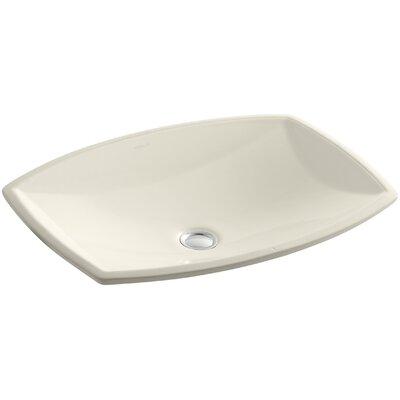 Kelston Ceramic Rectangular Undermount Bathroom Sink with Overflow Sink Finish: Almond