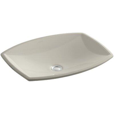 Kelston Ceramic Rectangular Undermount Bathroom Sink with Overflow Sink Finish: Sandbar