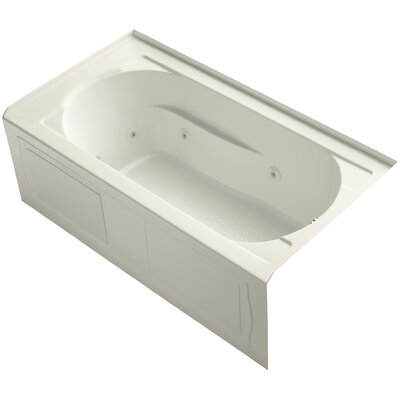 "Devonshire Alcove 60"" x 32"" Whirpool Bathtub Finish: Biscuit"