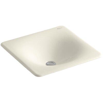 Iron Tones Metal Rectangular Drop-In Bathroom Sink Sink Finish: Almond