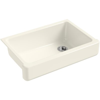 """Whitehaven Self-Trimming 32-1/2"""" L x 21-9/16"""" W x 9-5/8"""" Under-Mount Single-Bowl Sink with Short Apron Finish: Biscuit"""