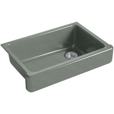 "Whitehaven Self-Trimming 32-1/2"" L x 21-9/16"" W x 9-5/8"" Under-Mount Single-Bowl Sink with Short Apron Finish: Basalt"